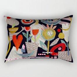 'night garden ...' Rectangular Pillow