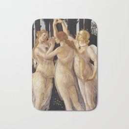 La Primavera - The Three Graces - Sandro Botticelli Bath Mat