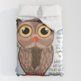 A wise old owl Comforters