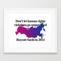 bisexual Framed Art Prints featuring Boycott Sochi - Bisexual Flag Gradient by Boycott Sochi