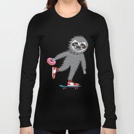 Skater Sloth Long Sleeve T-shirt