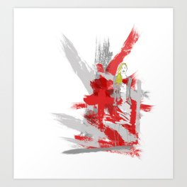Edgy Fashion Art Print