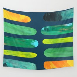 Green Pegs Wall Tapestry