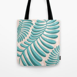 Three Happy Ferns - Green and Pink color palette  Tote Bag