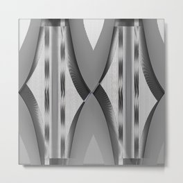 Experimental Pattern Metal Print