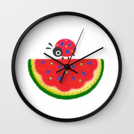 Watermelon&ladybug Wall Clock
