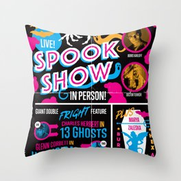 Spook Show Tribute Poster 01 Throw Pillow