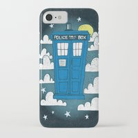 tardis iPhone & iPod Cases featuring blue box by Matthew Taylor Wilson