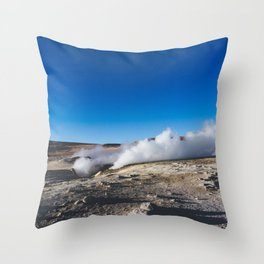 Geysers in the Atacama Desert, Bolivia Throw Pillow