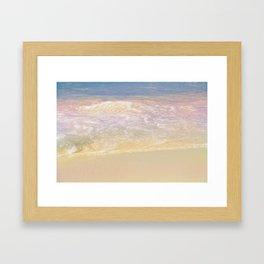Rainbow Waves Framed Art Print
