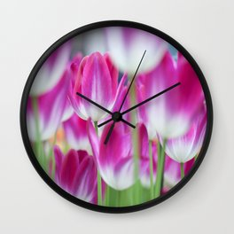 Spring Celebration. Tulips of Keukenhof Wall Clock