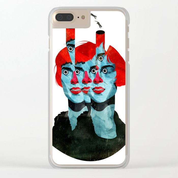 The cats in my head Clear iPhone Case