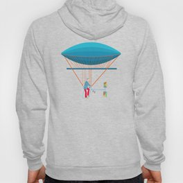Skycycle Flying Machine Air Balloon Victorian Aircraft Hoody