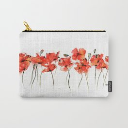 Remember me _ Poppies Carry-All Pouch
