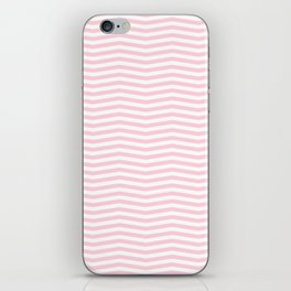 Light Soft Pastel Pink and White Chevron iPhone Skin