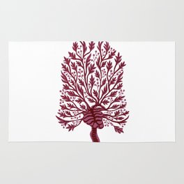 Skeleton Hawthorn Tree White Rug