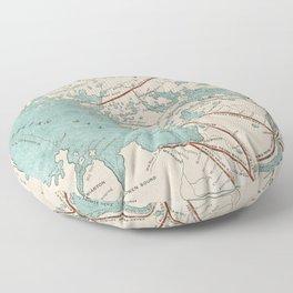 Vintage Map of Georgian Bay Floor Pillow