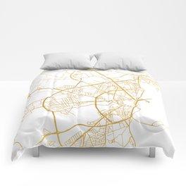 AARHUS DENMARK CITY STREET MAP ART Comforters
