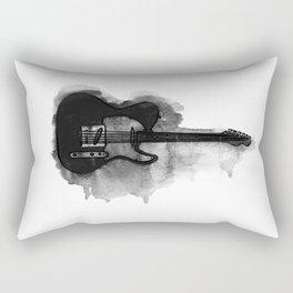 black and white electric guitar Rectangular Pillow
