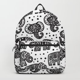 Beautiful pattern Indian Elephant with polka dot ornaments Backpack