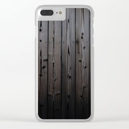 Silvered Slats Clear iPhone Case
