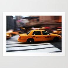 NYC Taxi Art Print