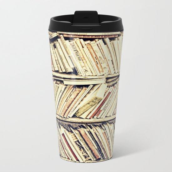 books Metal Travel Mug