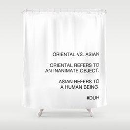 Oriental vs. Asian  Shower Curtain