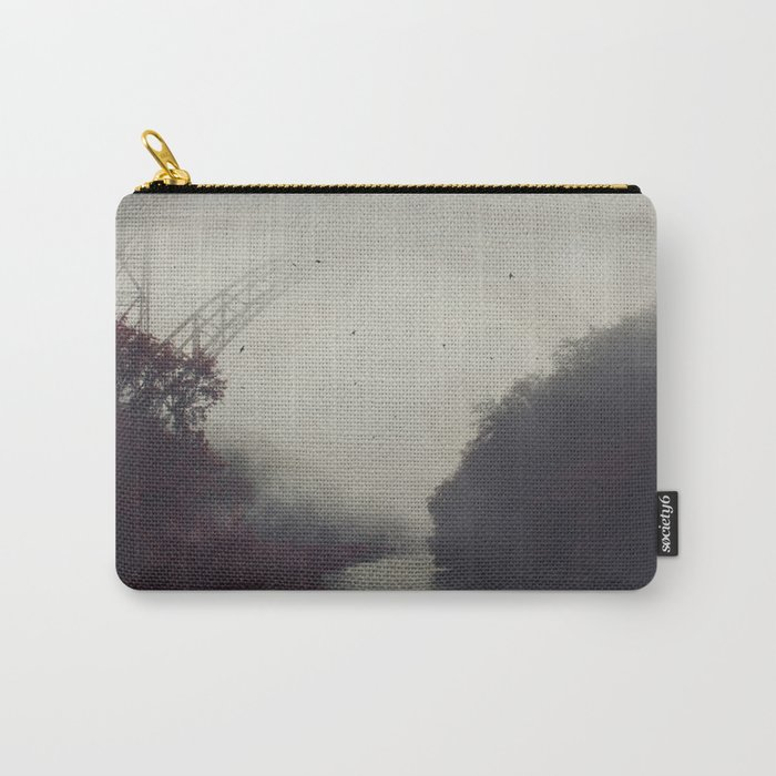 Bridge and River in Fog Carry-All Pouch
