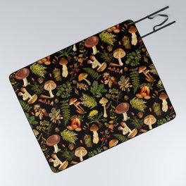 Vintage & Shabby Chic - Autumn Harvest Black Picnic Blanket