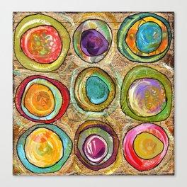 9 eggs Canvas Print