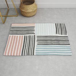 Different line strokes Rug