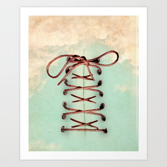 Lacing up the sky Art Print