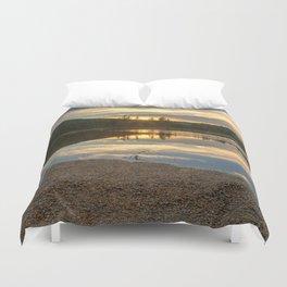 Lily Pond Sunset Duvet Cover