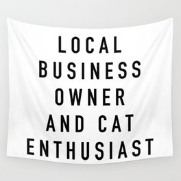 Cat Enthusiast Wall Tapestry