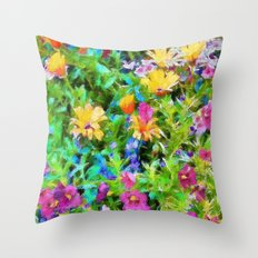 Wall Flowers throw pillow by photosbyhealy