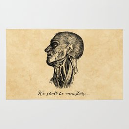 Frankenstein - Mary Shelley - We Shall Be Monsters Rug
