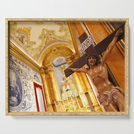 Jesus on the cross Serving Tray