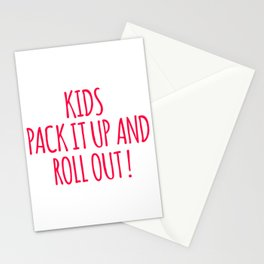 Kids Pack It Up And Roll Out Stationery Cards