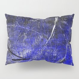 In The Dead Of Night - Textured Abstract In Blue, Black and White Pillow Sham