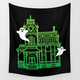 Haunted Victorian House Wall Tapestry