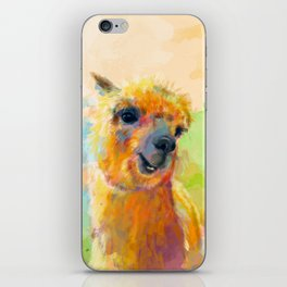 Colorful Happiness - Alpaca digital painting iPhone Skin
