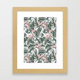 Botanical floral print - Sweet Pea Framed Art Print