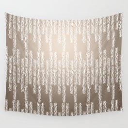 Eye of the Magpie tribal style pattern - champagne Wall Tapestry