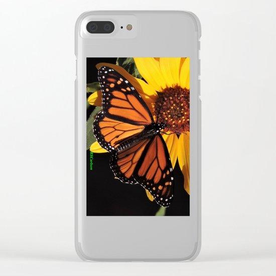 Monarch on a Desert Sunflower Clear iPhone Case