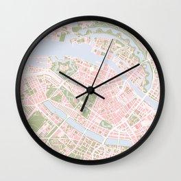 Copenhagen map vintage Wall Clock