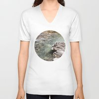 allyson johnson V-neck T-shirts featuring Johnson Canyon rocks by RMK Creative