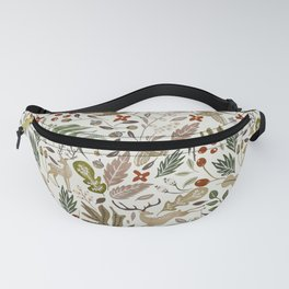 Christmas in the wild nature Fanny Pack