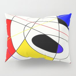 Incomplete Primary - Red, yellow, black, white, blue abstract artwork Pillow Sham