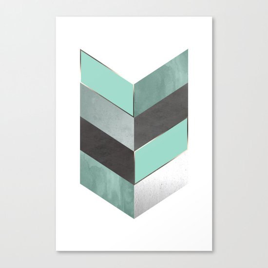 Chevron Geometric 1 Canvas Print